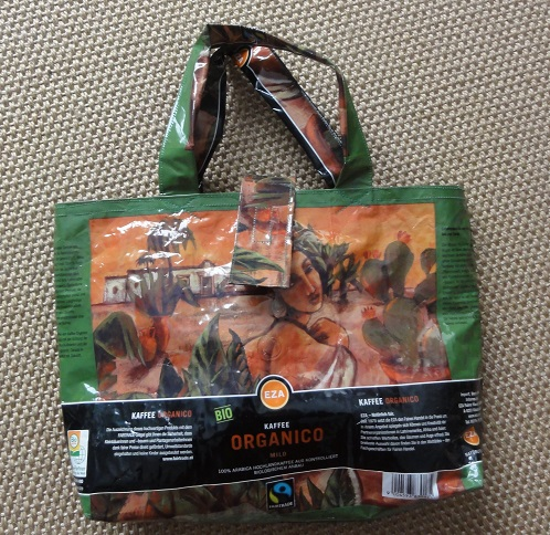 Upcycling-Tasche aus Kaffeeverpackung